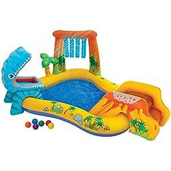 Intex - Centro juegos hinchable dinosaurio 249x191x109 cm 216l - 57444NP