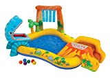 Intex - Centro juegos hinchable Intex dinosaurio 249x191x109...