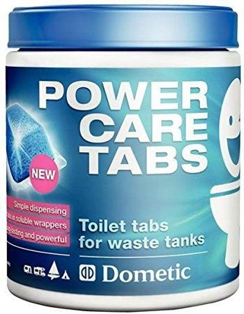 2-er Pack Dometic Power-Care Tabs fürs Camping-WC: Hochwirksamer Sanitär-Reiniger für ihre Chemie-Toilette (Er-tab)