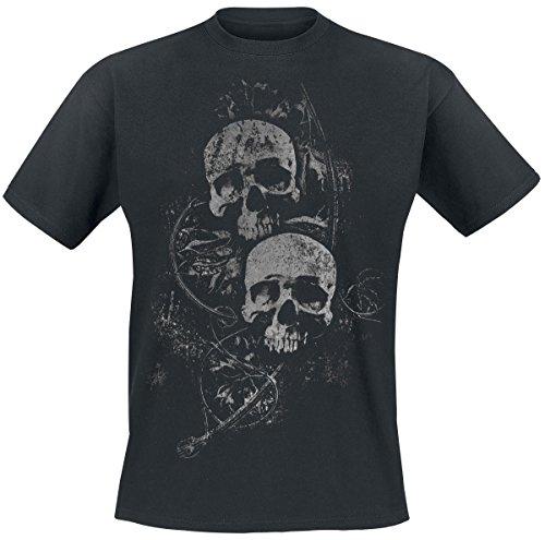 Skulls Big Front T-Shirt nero S