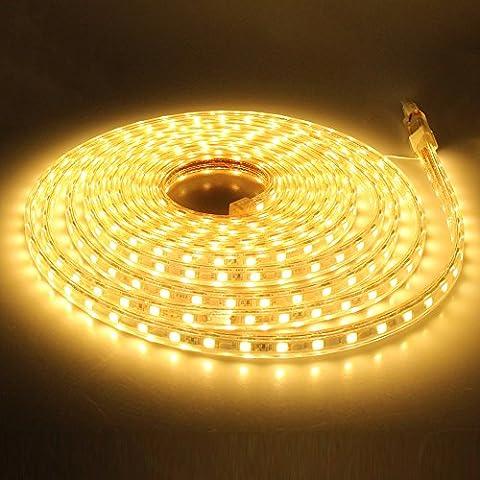 GreenSun LED Lighting Flexible 10M 5050 Warmweiß strip mit Bluetooth Kontroller Lichterschlauch Lichtschlauch Lichterkette Schlauch Leiste IP65 60leds / m wasserdichte Weihnachts Streifen