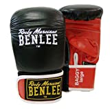 BENLEE Rocky Marciano Benlee Baggy Leather Bag Mitts Black Red