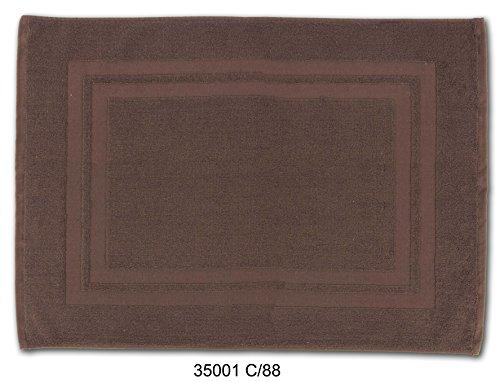Alfombra de baño en color MARRON - WENGUÉ. Tamaño: 50x70 cm. Rizo de Algodón 100%, muy absorvente. Gramaje:500 gr/m2.