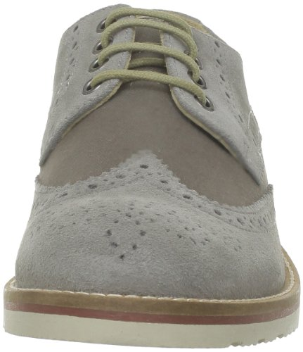 Base London Bowling, Chaussures de ville homme Gris (Suede Grey)