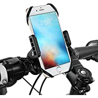 Support Téléphone Moto Vélo VTT Trottinette Scooter Siroflo Support Telephone Moto Rotatif à 360 Degrés Compatible avec iPhone 8 plus 8 7 7 Plus 6 6 Plus iPhone SE, Samsung Galaxy S8 S7 S6 J5 A5, Wiko, HTC, Huawei etc.- Universel Support Vélo du Guidon