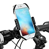 Handyhalterung Fahrrad, Siroflo Fahrrad Motorrad Halterung Handyhalter Universaler Lenkradhalterung Bike Holder Stabile Fahrradhalterung für Smartphone wie iPhone 7+ / 7 / 6+ / 6S / 5S / 5C / 4S, galaxy S8 / S7 / S6 / S5 / S4, note 5 / 4 / 3 / 2, OnePlus 3, Sony HTC, uws., 360°Rotation
