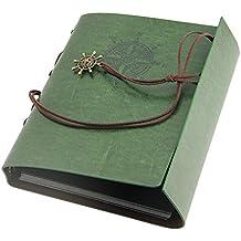 JTDEAL Álbum de Fotos Original (21.6 x 17.5cm, 30 páginas), con Pegatinas para Cumpleaños, Bodas, San Valentín Día y aniversario -Verde