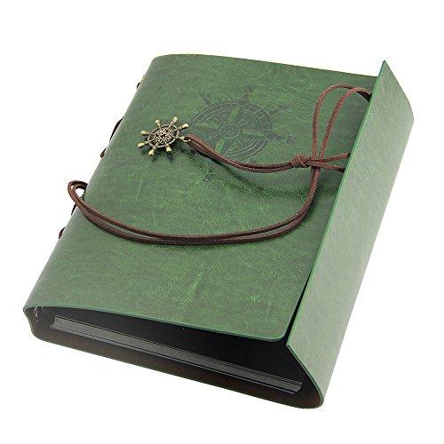 JTDEAL Álbum de Fotos Original (21.6 x 17.5cm, 30 páginas), con Pegatinas para Cumpleaños, Bodas, San Valentín Día y aniversario  Verde
