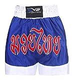 EVO Muay Thai Short MMA Coup de pied BOXE Grappling arts martiaux rouage UFC hommes - Bleu & Blanc, Small