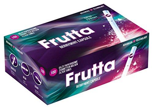 Frutta Click Hülsen Berry Mint Filterhülsen mit Aromakapsel 1 Box (100 Hülsen)