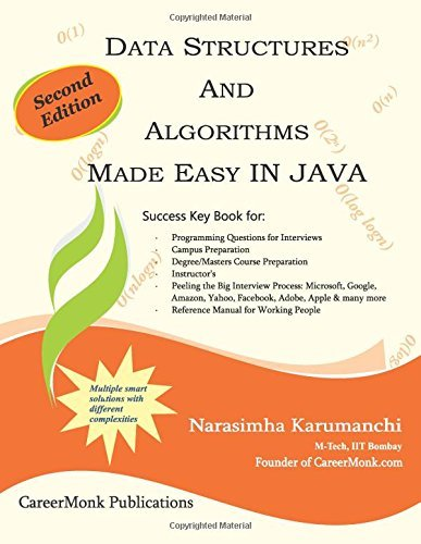 By Narasimha Karumanchi Data Structures and Algorithms Made Easy in Java: Data Structure and Algorithmic Puzzles, Second Edi (2nd Edition) [Paperback]