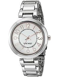 Nine West Women's NW/1893SVRT Easy to Read Silver-Tone Bracelet Watch