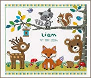 Counted cross stitch kit Forest animals I