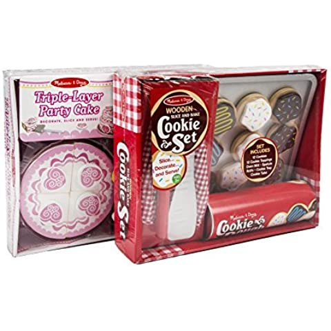 Maven Gifts: Melissa & Doug Slice and Bake Cookie Set with Triple Layer Party Cake by Maven Gifts - Triple Layer Cake