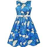 Best Richie House Dress For Kids - LC12 Girls Dress Blue White Flower Belt Sparkling Review