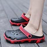 CWJDTXD Pantofole estive Foro scarpe antiscivolo nido nido per uccelli scarpe in spugna leggera pizzo freddo sandali doppio uso baotou pantofole grandi scarpe, 42 scarpe sportive standard codice, XS-A1 nero