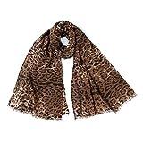 TianWlio Schals Frauen Weihnachten Leoparden Druck Schal Mehrzweck Schal Schal Mode Retro Frau