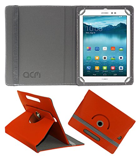Acm Rotating 360° Leather Flip Case for Huawei Honor T1 Cover Stand Orange  available at amazon for Rs.159