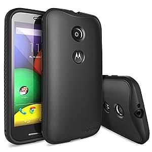 Moto E Case - Ringke FLEX Flexible n Strong TPU Case [Free HD Film][BLACK] for Motorola Moto E - Eco Package