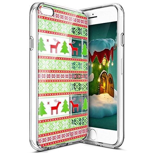Custodia Cover iPhone 6/6S plus Silicone Morbida,Ukayfe HD Trasparente Cristallo di Lusso di Crystal Colorato Pittura Disegno per iPhone 6/6S plus Clear Flexible TPU Gel Ultra Sottile Copertura Case P Albero Tribale Modello
