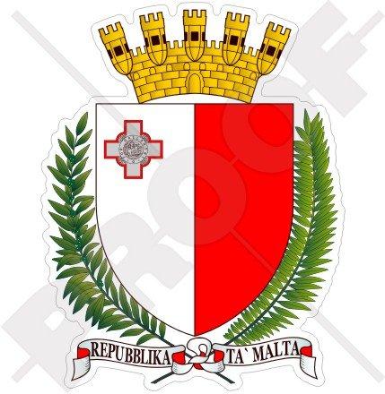 Malta Malteser Wappen Abzeichen Wappen 100mm (10,2cm) Vinyl Bumper Aufkleber, Aufkleber