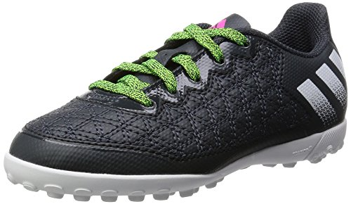 adidas Ace 16.3 Cage, Chaussures de Football Garçon Gris (Dark Grey/Grey/Solar Green)