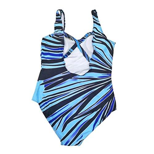 BYSTE Donna Sexy Costume da Bagno Radiazioni colorate Grande Taglia Imbottito Swimsuit Monokini Costumi da bagno Spingere verso l'alto Bikini B