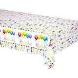 Happy Birthday Streamers Plastic Tablecover 120x180cm