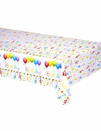 Procos Happy Birthday Kunststoff-Tischdecke (Tischdecken Aus Kunststoff)
