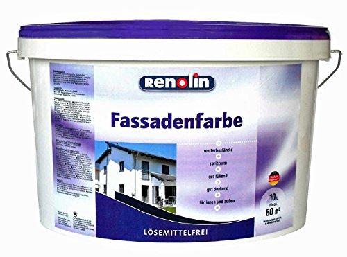 RENOLIN Fassadenfarbe Sockel Farbe WEISS MATT 10 Liter