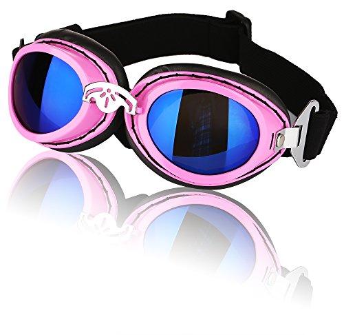 Hi Kiss Hund Goggles Sonnenbrille Anti-Beschlag Brille Schnee-Skifahren Augenschutz Schutzbrille mit Pink