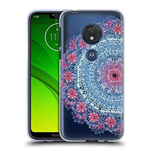 Hintergrund, Rote Umrandung (Head Case Designs Offizielle Micklyn Le Feuvre Blau Rot Und Weiss Mandala 5 Soft Gel Huelle kompatibel mit Motorola Moto G7 Play)