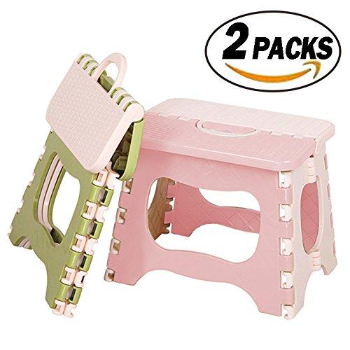 REKYO 2 Packungen Schritt Klapphocker für Kleinkinder kleinen tragbaren Schritt Klapphocker