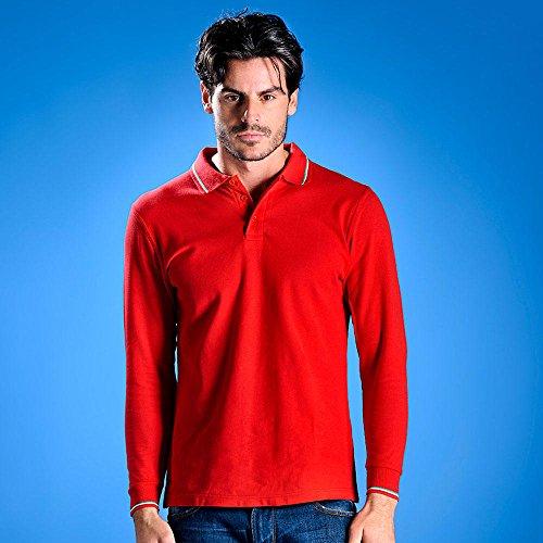 "Kult-Polo ""Italia"" langarm/NEU/MYDAY/tricolore/Polo-Shirt/kultig Weiß"