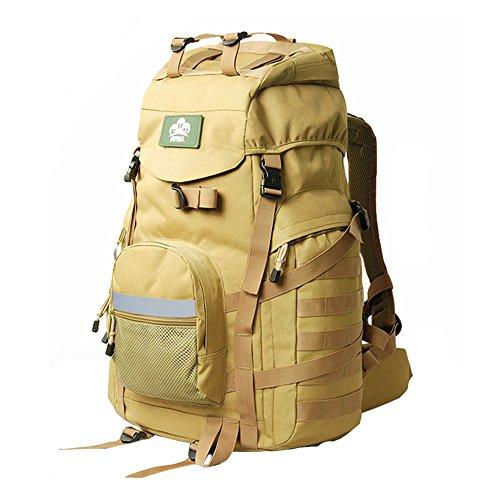 YAAGLE Outdoor Bergsteigen Taschen Schultertasche groß Fassungsvermögen Rucksack Wandern Camping-Paket draußen Reisetasche Gelb