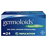 Germoloids Haemorrhoids Treatment and Piles Treatment Suppositories, Pack of 24