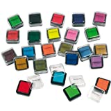Pigment-Stempelkissen Künstlerbedarfsqualität, 24 Stück, farbsortiert