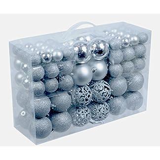 100-Weihnachtskugeln-Silber-glnzend-glitzernd-matt-Christbaumschmuck-bis–6-cm-Baumschmuck-Weihnachten-Deko-Anhnger