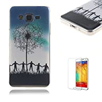 For Samsung Galaxy G530 Case [with Free Screen Protector],Funyye Colorful Painting Pattern Rubber Exclusive Design TPU Back Case Flexible Soft Bumper Protective Skin Case Ultra Samsung Galaxy G530-Dandelion