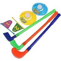 NUOLUX Juguete de golf conjunto de plástico para niños pequeños niño-niño juegos