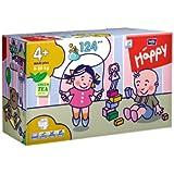 Bella Baby Happy Windeln Gr. 4 plus Maxi Plus 9-20kg Big Pack, 2er Pack (2 x 62 Windeln), 1er Pack (1 x 124 Stück)