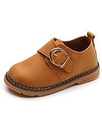 Zapatos de Vestir Mocasines para Niños Zapatos de Cuero Oxford Casual Zapatos para Caminar Plano Tacón