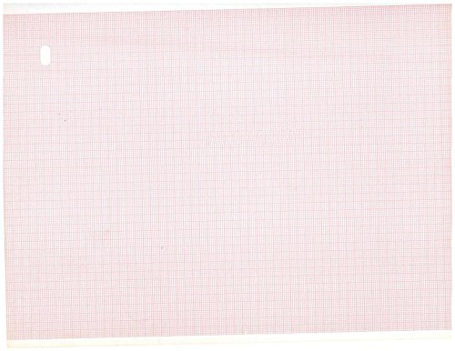 ECG Paper For MAC 1000, 1200, 3500, 5500 - 216mm X 280mm X 300 Sheets (ALL RED Grid) (3) by Quality Chart Paper