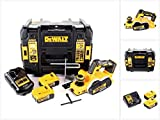 DeWalt DCP 580 P2 18 V Akku Hobel 82 mm in TSTAK-Koffer VI + 2x DCB 184 5,0 Ah Akku + 1x DCB 115 Ladegerät