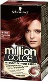 Schwarzkopf Million Color Intensiv-Pigment-Farbe 4-88 Mystisches Rot Stufe 3, 1er Pack (1 x 126 ml)