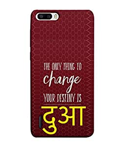 Fuson Designer Back Case Cover for Huawei Honor 6 Plus (Blessings Quotation Friend Boy Girl Ladies Gents)