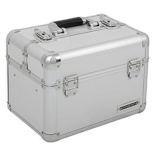 Kosmetikkoffer XL Aluminium-Rahmenkoffer Multikoffer Beauty Case für Nagelstudio - Nail Systems in Silber - 800012
