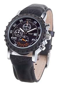 WMC Uhren - Quantum Chronograph 2045 - Montre Homme - Quartz - Analogique - Chronographe - Bracelet Cuir Noir