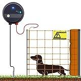 VOSS.farming 100m Komplettset Hundezaun Weidezaungerät Elektronetz für Sehr Kleine Hunde