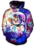 Grafik Hoodie,Chicolife Hoodie 3d Kapuzenpulli Herren Lustige Gedruckte Graphic Pullover Hoodies Sweatshirts Drawstring Taschen mit Samt Plus Futter S-4XL